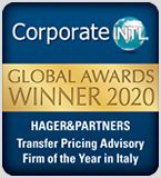 AWARD 2020: Transfer Pricing Advisory Firm of the Year - Italy